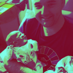 Carl with twins in NICU on Father's Day 2019
