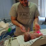 NICU Awareness Month - Carl MacDonald with son in NICU